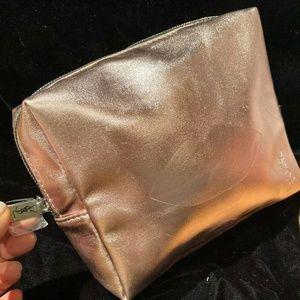 Yves Saint Laurent YSL Beaute Rose Gold Makeup Bag